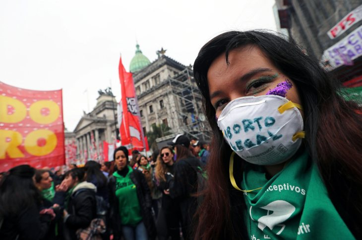 Marchas a favor de la legalización del aborto