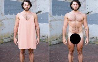 Cuestionando la masculinidad:  hombres desnudos vs. hombres con vestidos