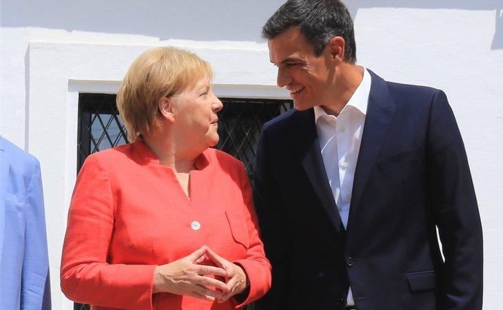 Pedro Sánchez y Angela Merkel se reunieron para hablar sobre inmigración