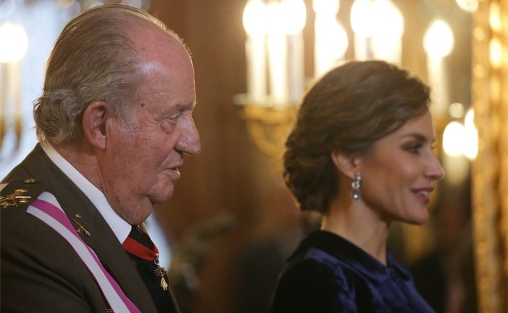 Don Juan Carlos y la Reina Letizia