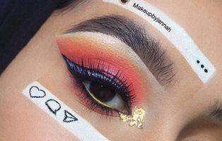 La nueva moda: maquillarse parte de la cara para enseñar que Instagram no es la realidad