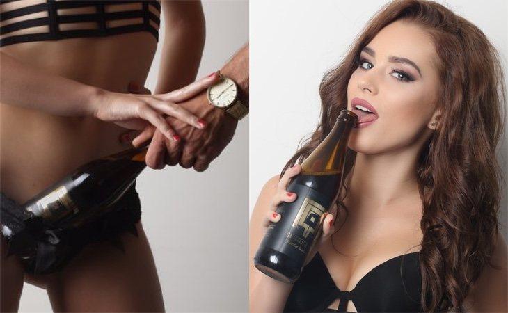 Publicidad de la mencionada cerveza