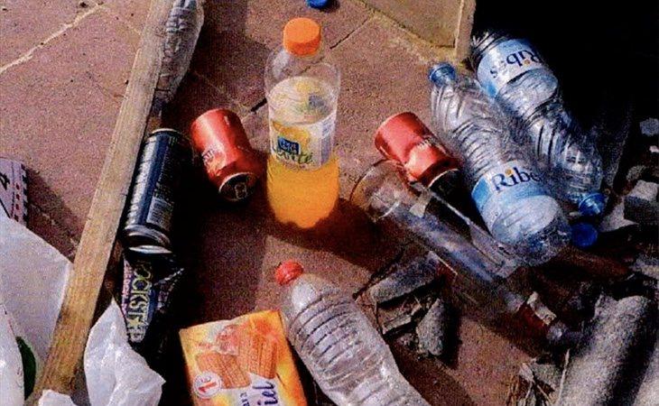 Algunos de los restos hallados en la masía en la que se alojaron en los momentos previos al ataque de Cambrils
