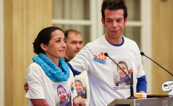 Patricia Ramírez y Ángel Cruz, padres del pequeño Gabriel