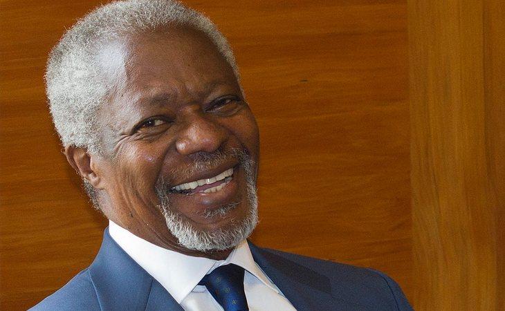 Kofi Annan, ex Secretario General de la ONU y Nobel de la Paz