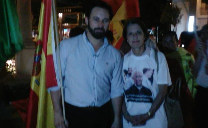 Pilar Gutiérrez en un mitin de VOX (Facebook: Movimiento por España)