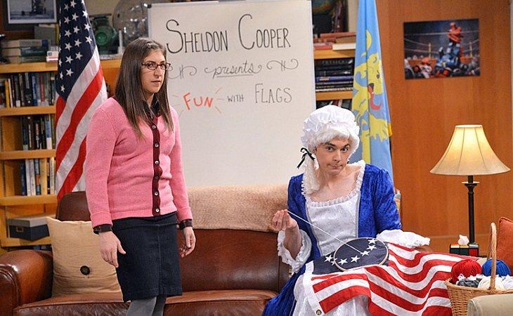 Amy y Sheldon presentan