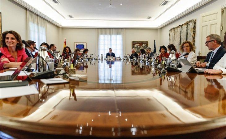 Reunión de los ministros y ministras del Gobierno socialista de Pedro Sánchez