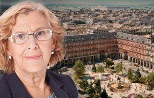 Carmena aprueba la instalación de un jardín con árboles y flores en la Plaza Mayor