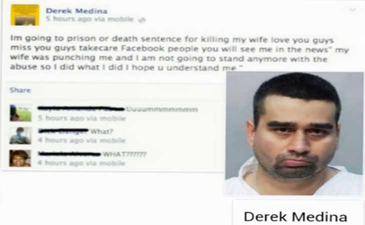 Mensaje que acompaño a la foto de su mujer asesinada