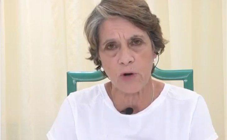 Pilar Gutiérrez durante su intervención en el programa 'Hechos Reales'