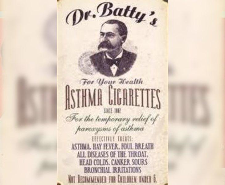 El tabaco se vendía como la mejor arma para combatir el asma
