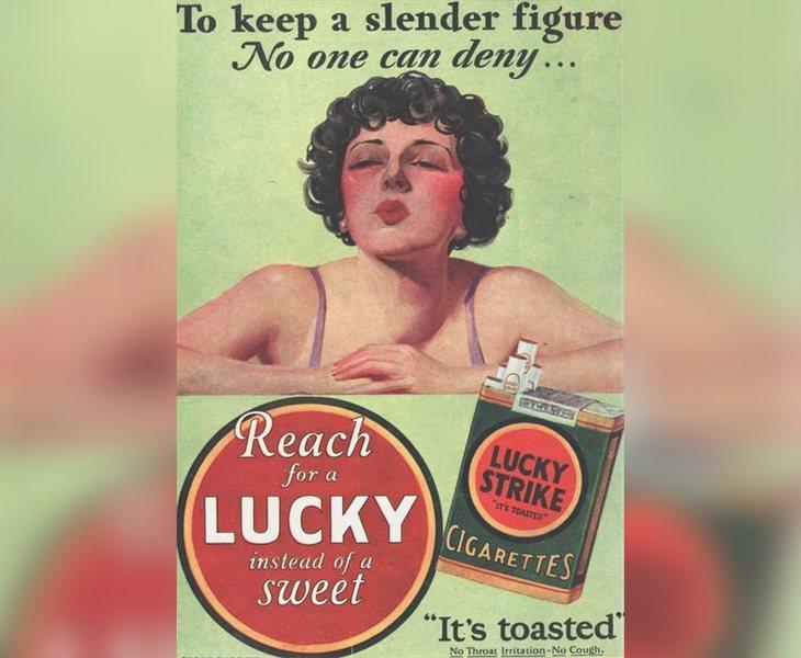 El tabaco se vendía como la mejor forma de adelgazar