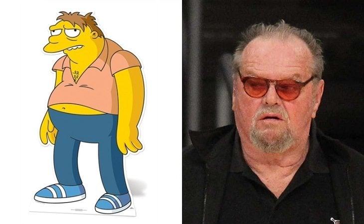 Barney y Jack Nicholson