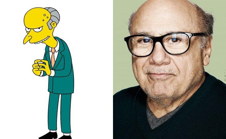 El señor Burns y Danny de Vito