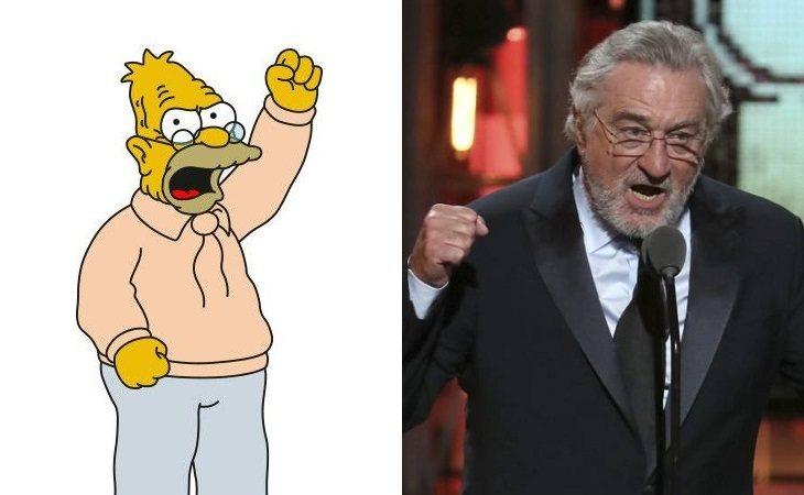 Abe Simpson y Robert de Niro
