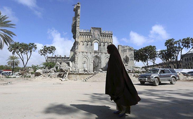 Los restos de la catedral en la actualidad