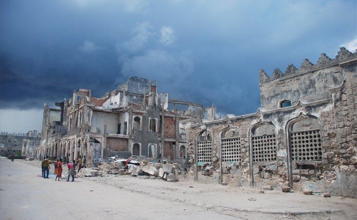 Las calles han quedado completamente devastadas por la guerra