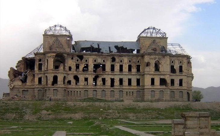 Los restos del palacio en la actualidad