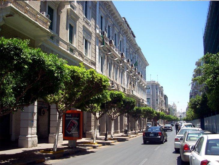 Una de las calles más céntricas de Trípoli