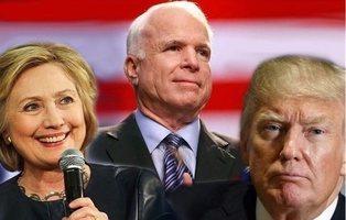 Muere John McCain: todos los días en que dio una lección a Hillary Clinton y Donald Trump