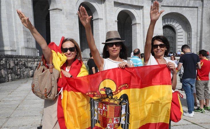 Manifestaciones contra la exhumación en el Valle de los Caídos