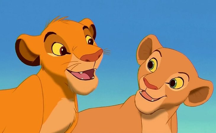 Simba y Nala en 'El Rey León'
