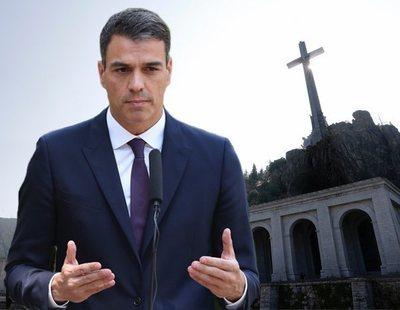 Pedro Sánchez niega que se vaya a demoler la cruz del Valle de los Caídos