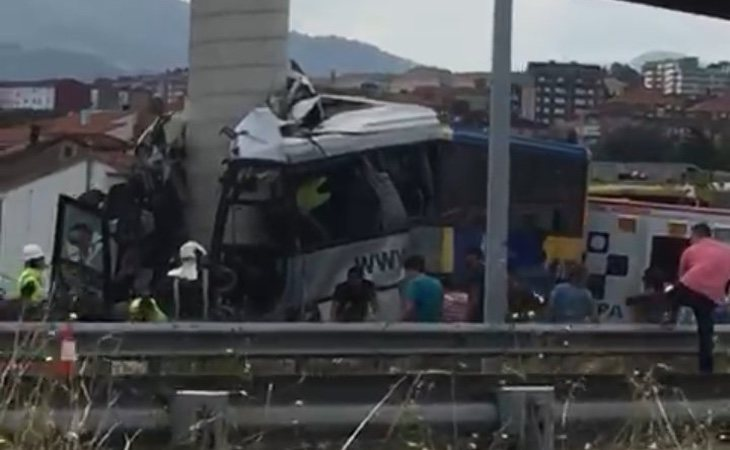 Imágenes del accidente (Twitter)