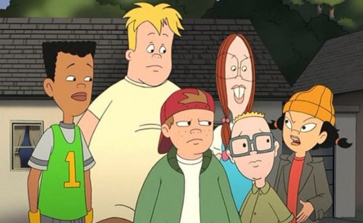 Vince, Mikey, TJ, Gretchen, Gus y Spinelli, protagonsitas de 'La banda del patio'