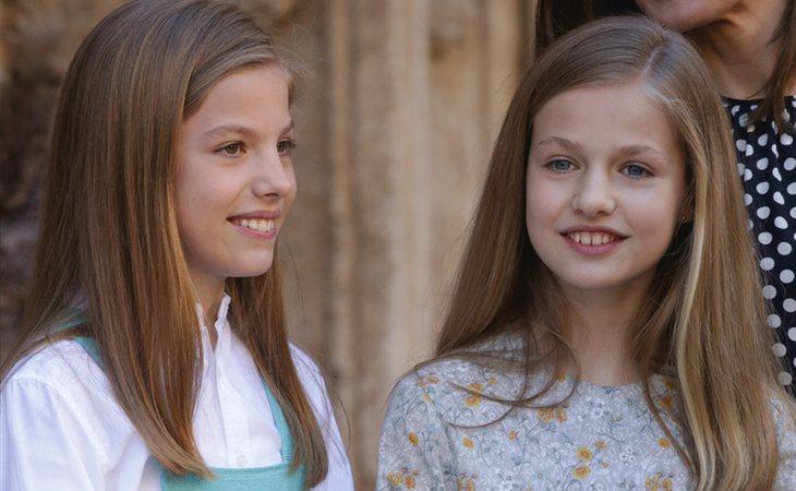 La infanta Sofía y la princesa Leonor