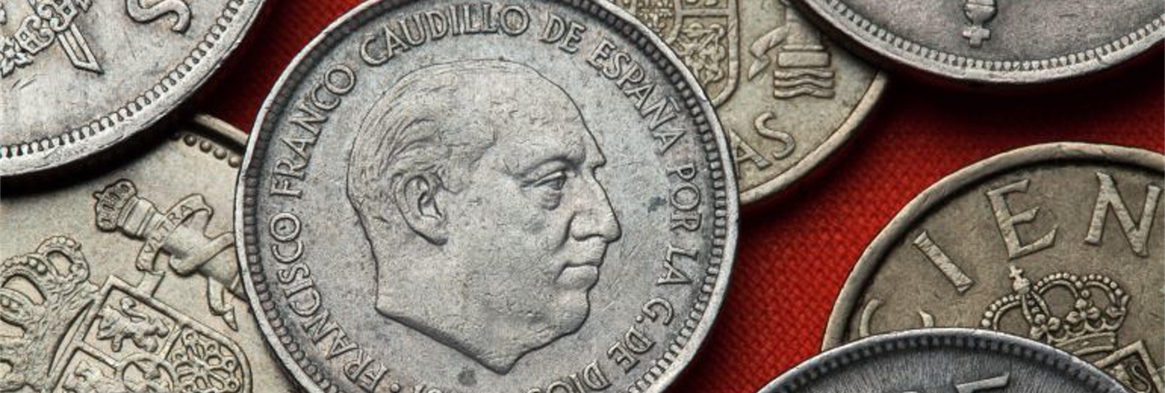 Franco ordenó modificar una moneda de peseta para salir más guapo