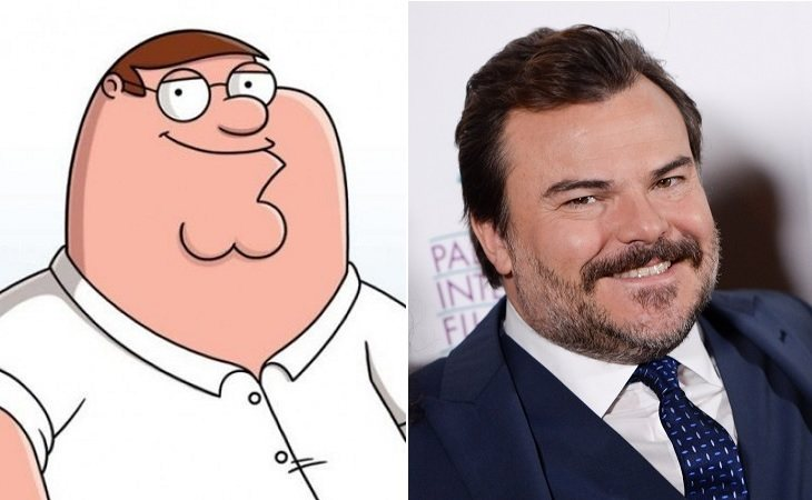 Peter Griffin y Jack Black