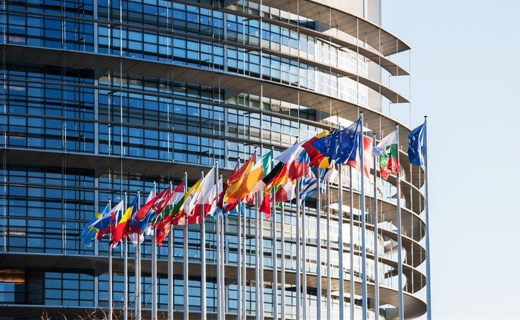 El Parlamento Europeo en Estrasburgo, Francia
