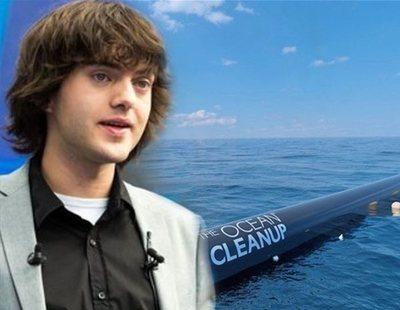 Comienza el sistema de limpieza de océano ideado por un holandés de 24 años