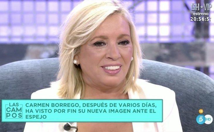 Carmen Borrego aún no se ha recuperado definitivamente de la operación