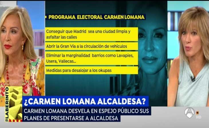 Carmen Lomana explican su programa electoral