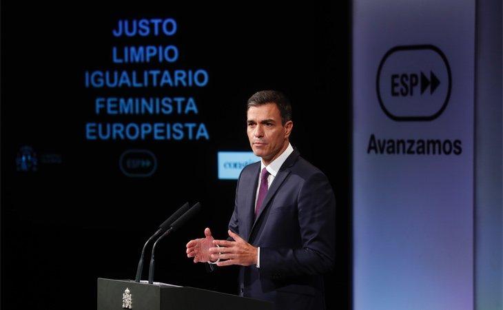 Pedro Sánchez bajo el lema de