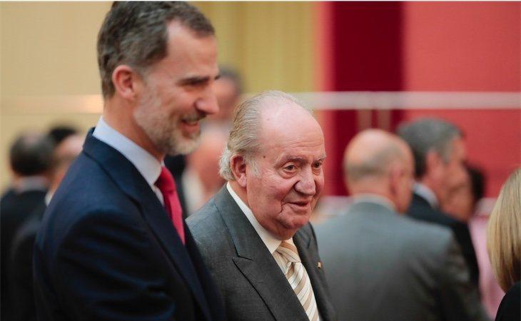 El Rey Felipe y su padre, Juan Carlos I