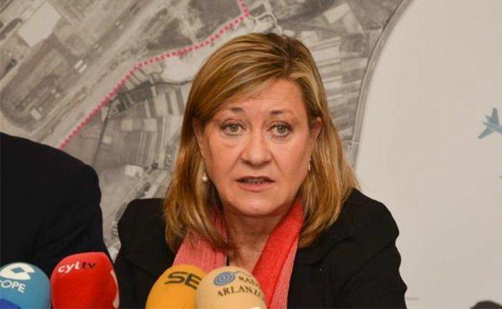Pilar del Olmo durante una rueda de prensa
