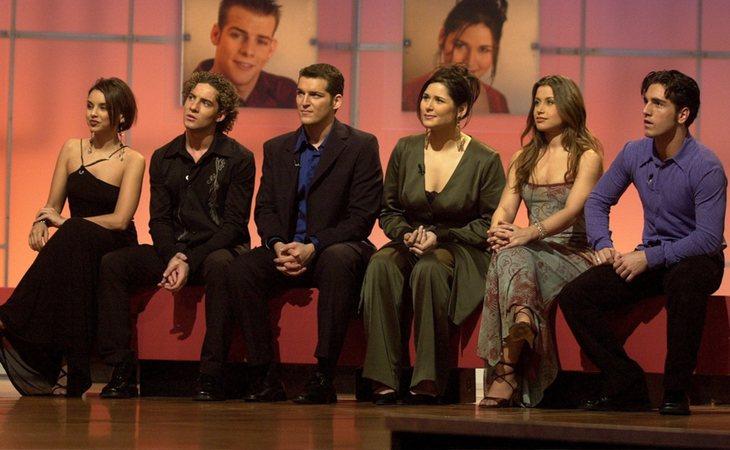 Chenoa, David Bisbal, Manu Tenorio, Rosa López, Verónica y David Bustamante, finalistas de 'OT 1'