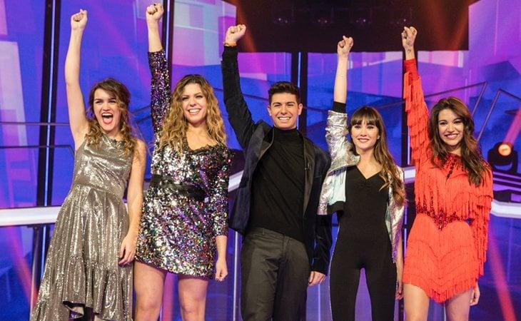 Amaia Romero, Miriam Rodríguez, Alfred García, Aitana Ocaña y Ana Guerra, finalistas de 'OT 2017'
