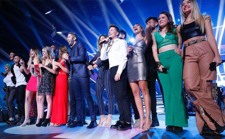 Los concursantes de 'OT 2017' abrieron la Gala 0 de 'OT 2018' interpretando 'Camina'