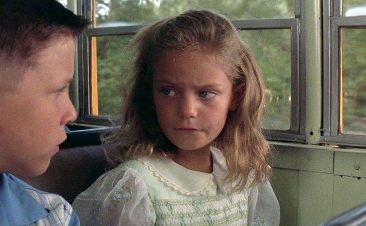 Forrest y Jenny de niños