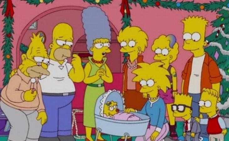 La familia Simpson en uno de los futuros mostrados en la serie