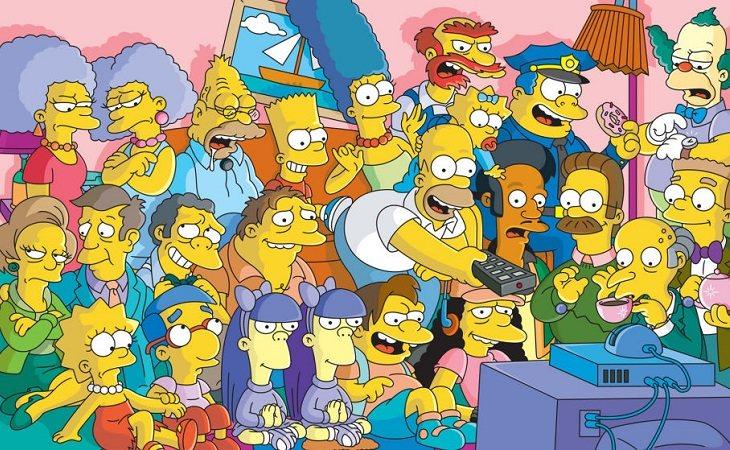 Algunos de los personajes de 'Los Simpson'