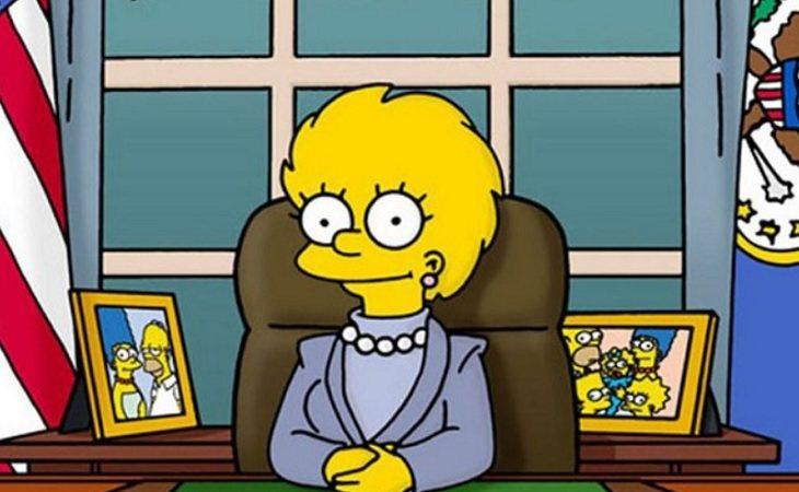 Lisa sucesora de Donald Trump como presidenta de los Estados Unidos en 'Los Simpson'