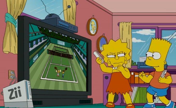 Lisa y Bart jugando a la Zii en 'Los Simpson'