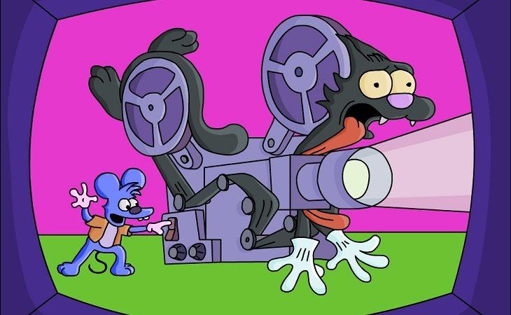 Rasca y Pica, los dibujos favoritos de Bart y Lisa
