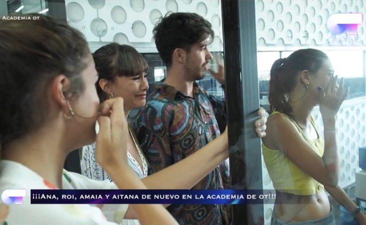 Amaia, Aitana, Roi y Ana Guerra no pueden dejar de llorar durante su visita a la Academia
